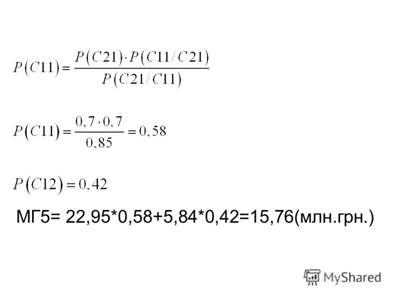 МГ5= 22,95*0,58+5,84*0,42=15,76(млн.грн.)