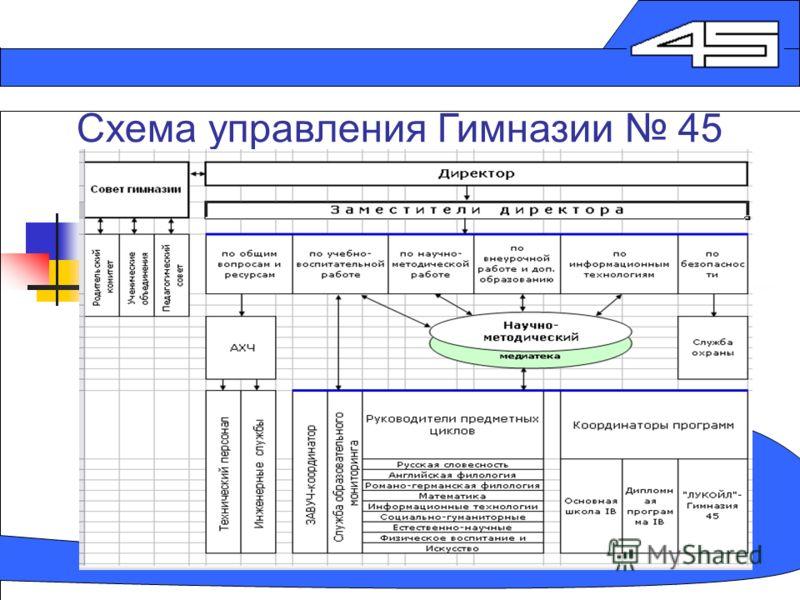 Схема управления Гимназии 45