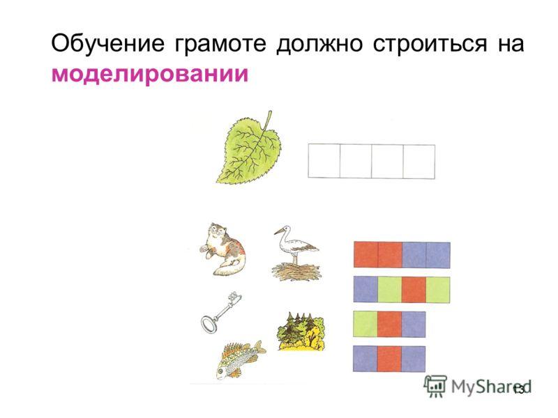 13 Обучение грамоте должно строиться на моделировании