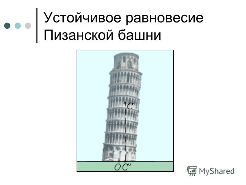 Устойчивое равновесие Пизанской башни