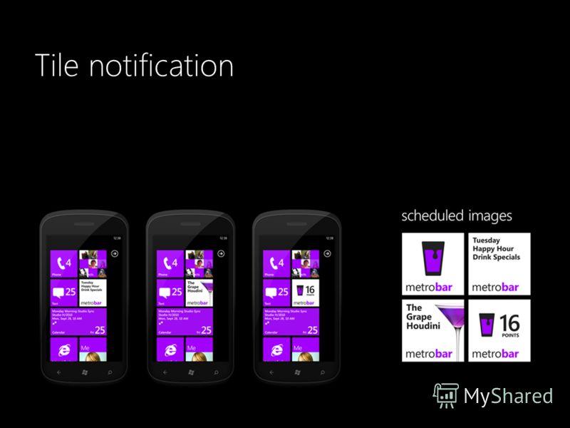 Tile notification