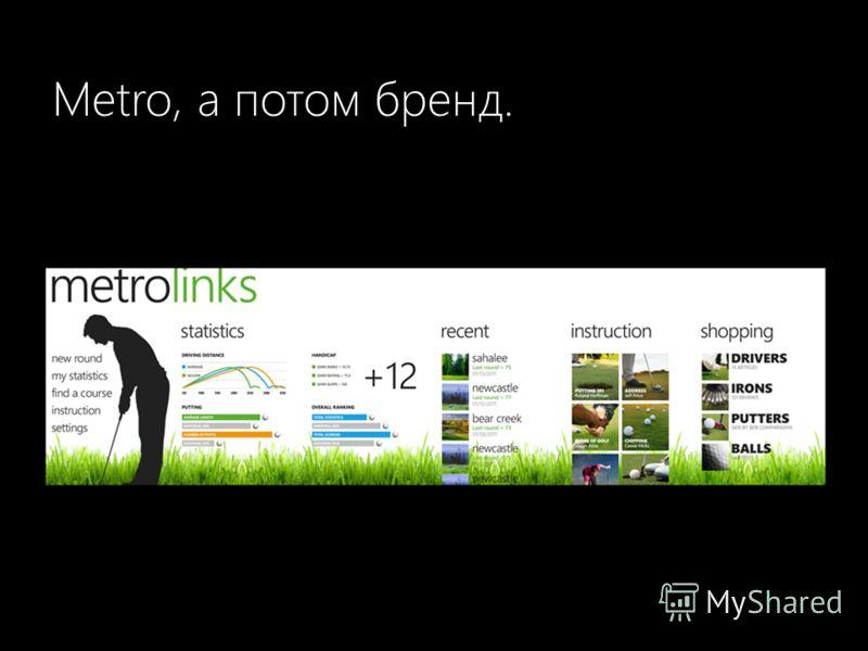 Metro, а потом бренд.