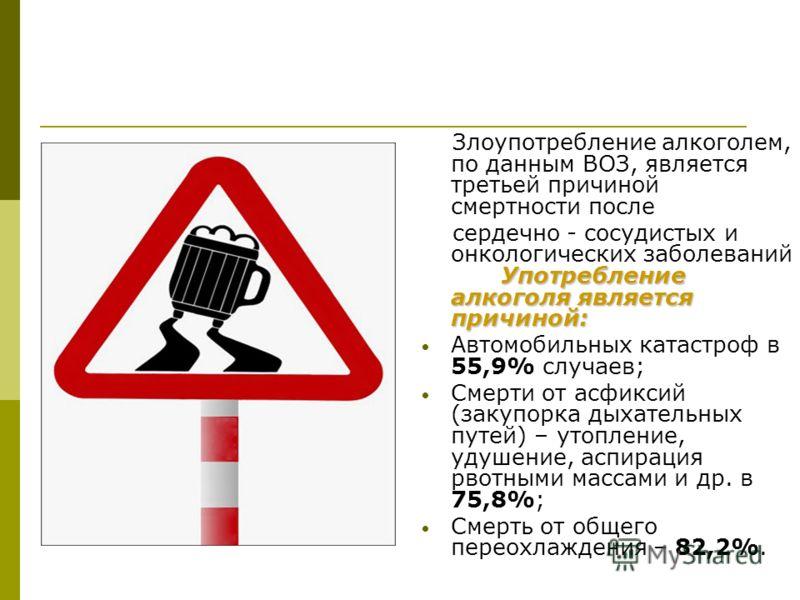 Вождение в нетрезвом виде является причиной примерно 1/3 всех смертей на дорогах Всероссийская общественная организация «Антиалкогольный фронт» намерена подать на рассмотрение Госдумы законопроект, согласно которому предусматривается пожизненно лишит