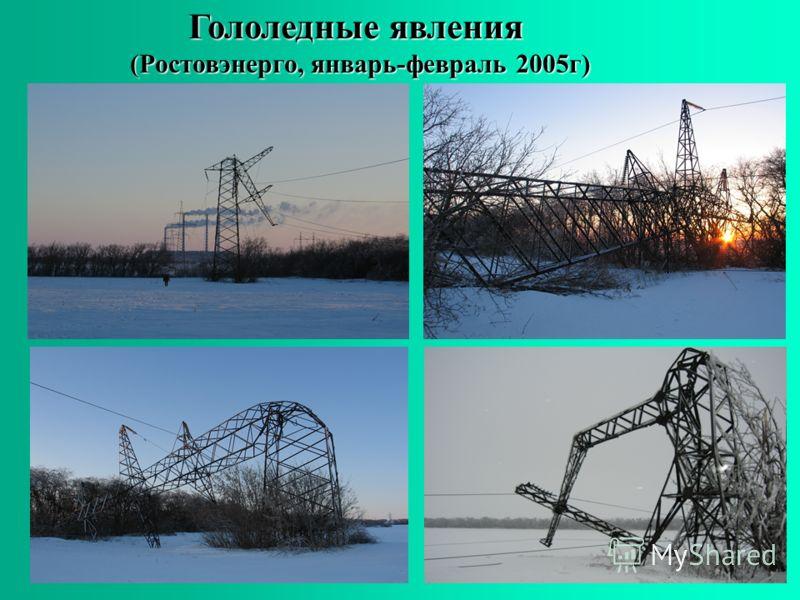Гололедные явления (Ростовэнерго, январь-февраль 2005г)