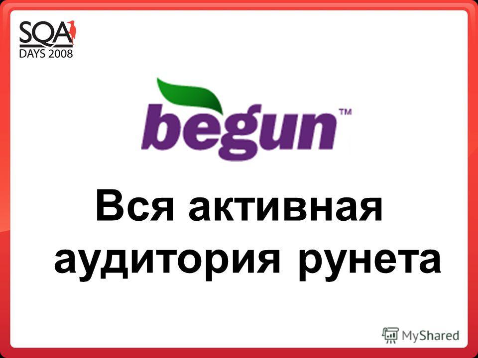 Вся активная аудитория рунета