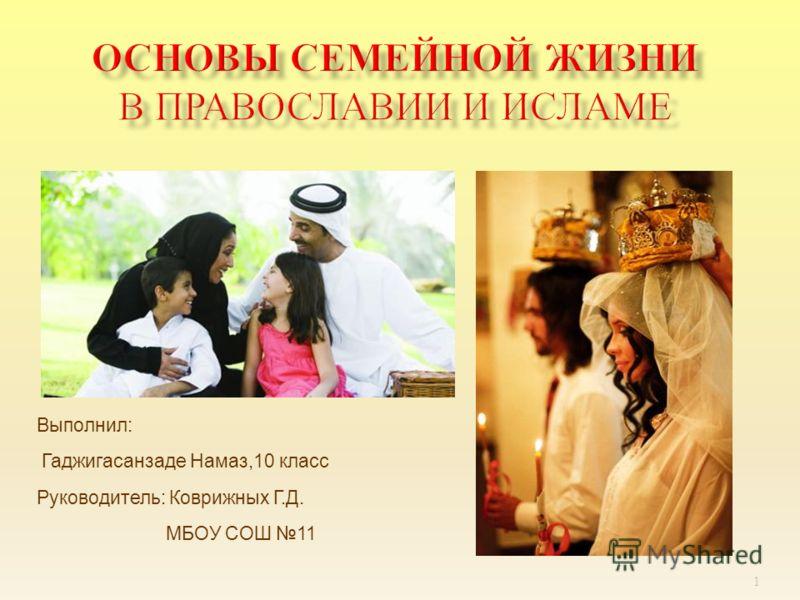 Выполнил: Гаджигасанзаде Намаз,10 класс Руководитель: Коврижных Г.Д. МБОУ СОШ 11 1