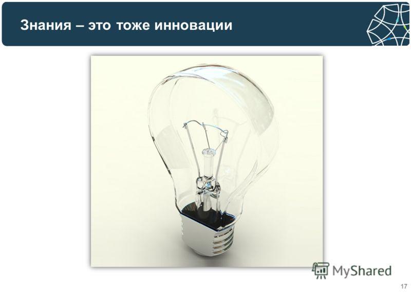 Знания – это тоже инновации 17