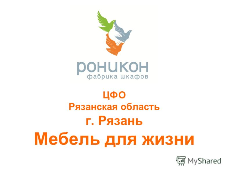ЦФО Рязанская область г. Рязань Мебель для жизни