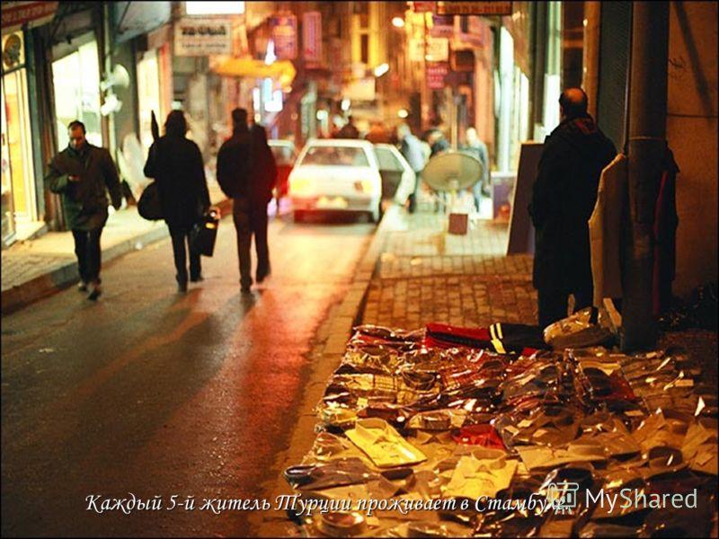 Каждый 5-й житель Турции проживает в Стамбуле.