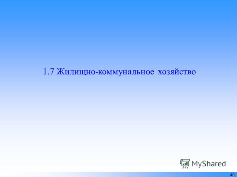 1.7 Жилищно-коммунальное хозяйство 40