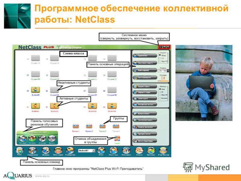 www.aq.ru Программное обеспечение коллективной работы: NetClass www.aq.ru