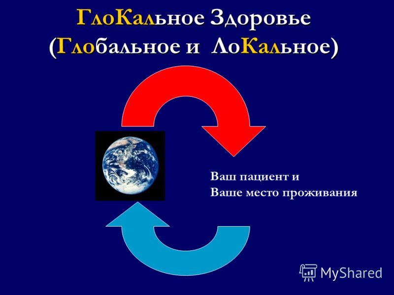 ГлоКальное Здоровье (Глобальное и ЛоКальное) Ваш пациент и Ваше место проживания