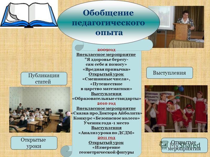 Открытые мероприятия Открытые уроки Выступления Публикации статей 2009год Внеклассное мероприятие