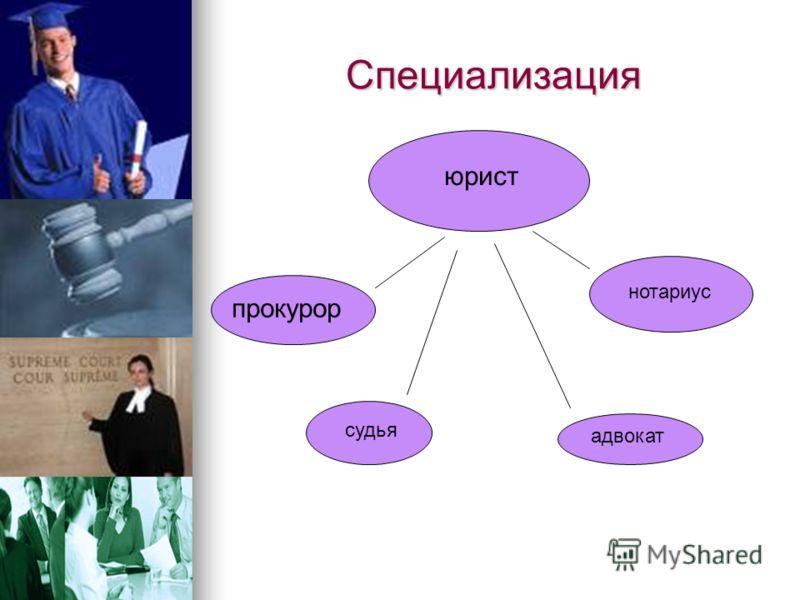 Презентация на тему Мой путь к профессии юриста Выполнил Ученик  3 Специализация юрист прокурор адвокат судья нотариус