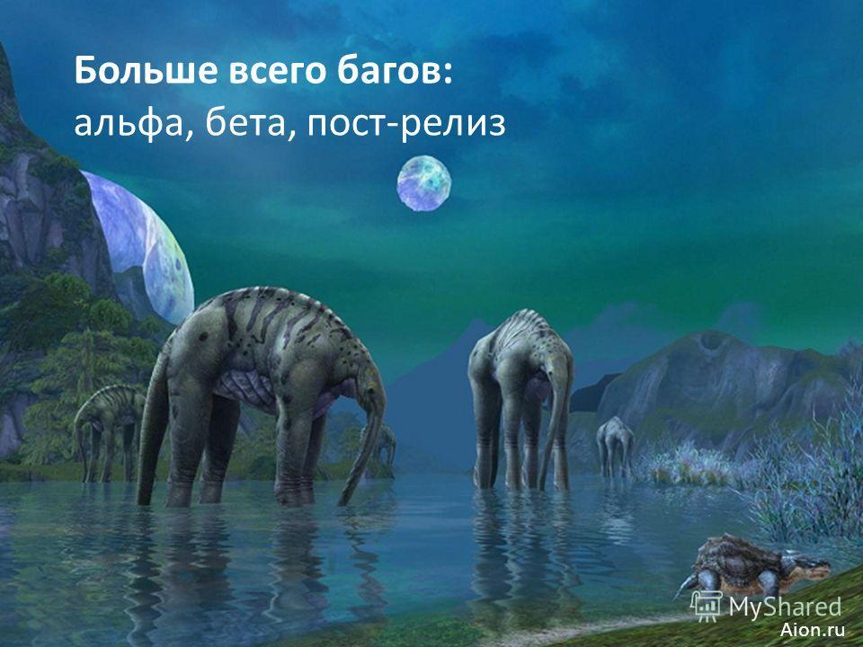 Больше всего багов: альфа, бета, пост-релиз Aion.ru