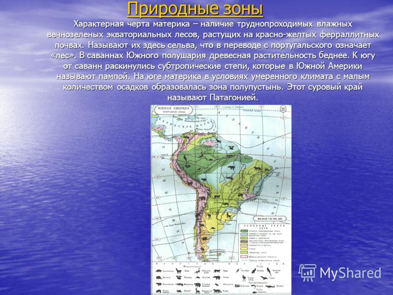 Поскольку Южная Америка самый влажный материк Земли, то неудивительно, что природа создала здесь самый большой речной бассейн мира с грандиозной Амазонкой. Площадь бассейна реки почти равна всей Австралии. Амазонка полноводна весь год. При подъеме во
