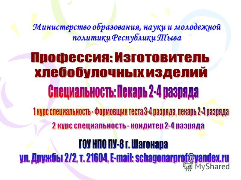 Министерство образования, науки и молодежной политики Республики Тыва