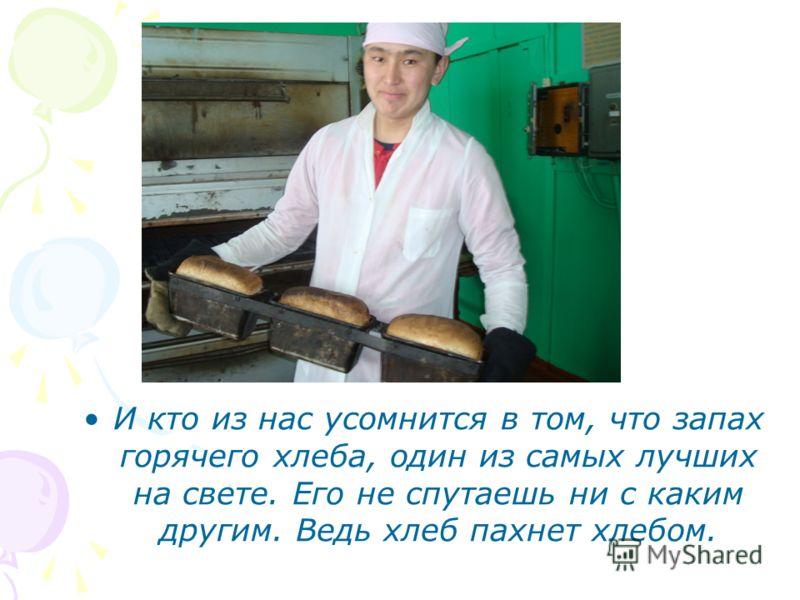 И кто из нас усомнится в том, что запах горячего хлеба, один из самых лучших на свете. Его не спутаешь ни с каким другим. Ведь хлеб пахнет хлебом.