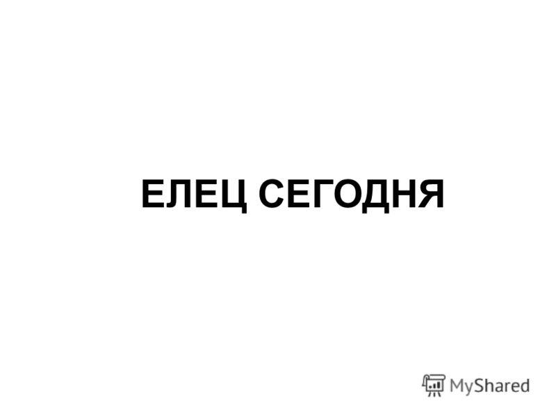 ЕЛЕЦ СЕГОДНЯ
