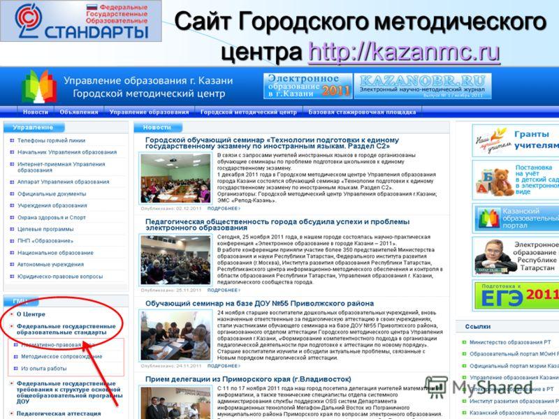 Сайт Городского методического центра http://kazanmc.ru http://kazanmc.ru