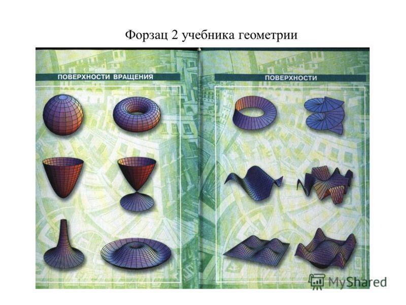 Форзац 2 учебника геометрии