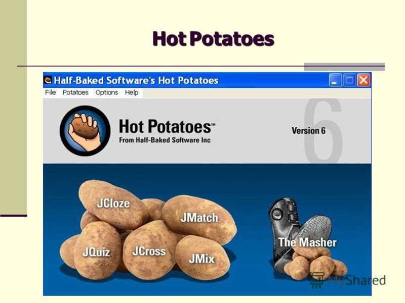 HotPotatoes Hot Potatoes