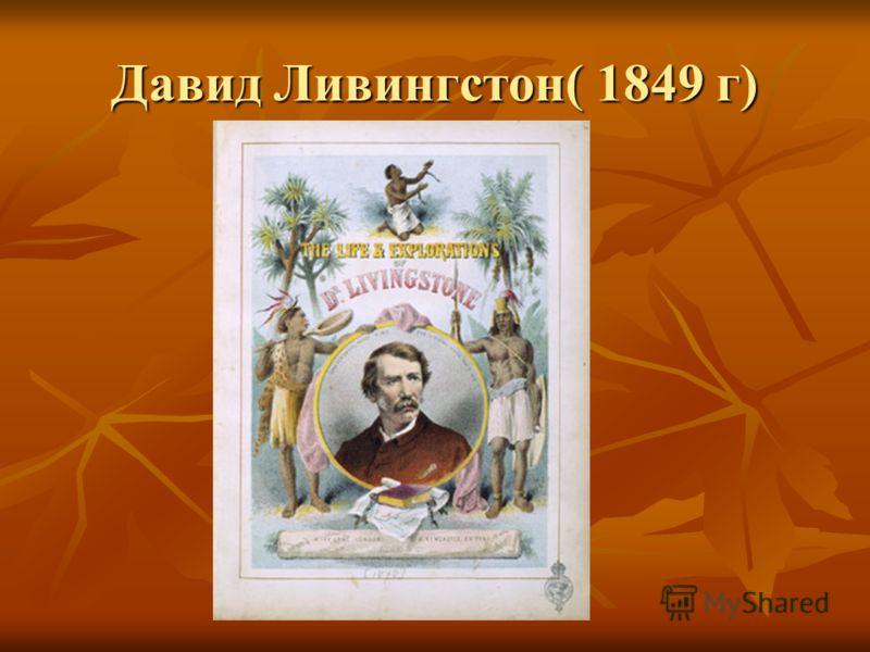 Давид Ливингстон( 1849 г)