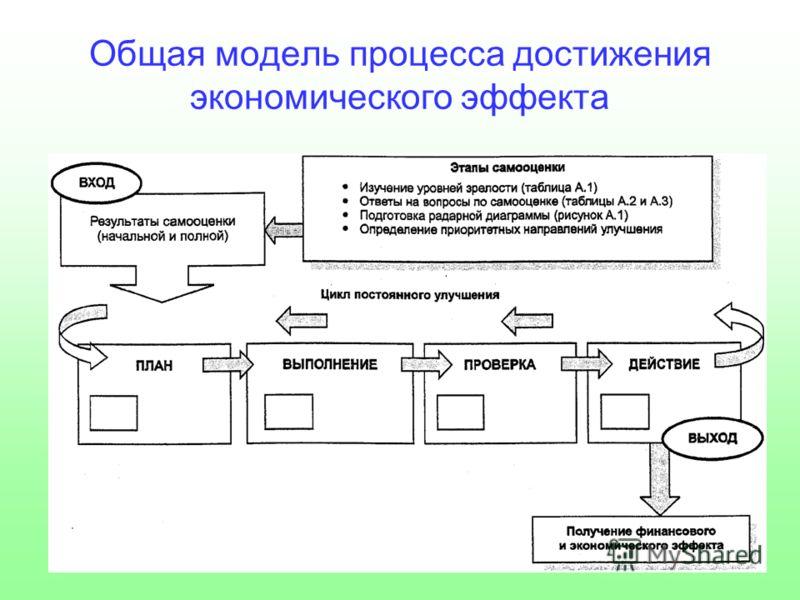 Общая модель процесса достижения экономического эффекта