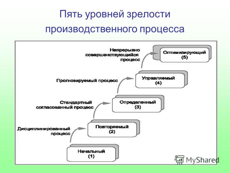 Пять уровней зрелости производственного процесса