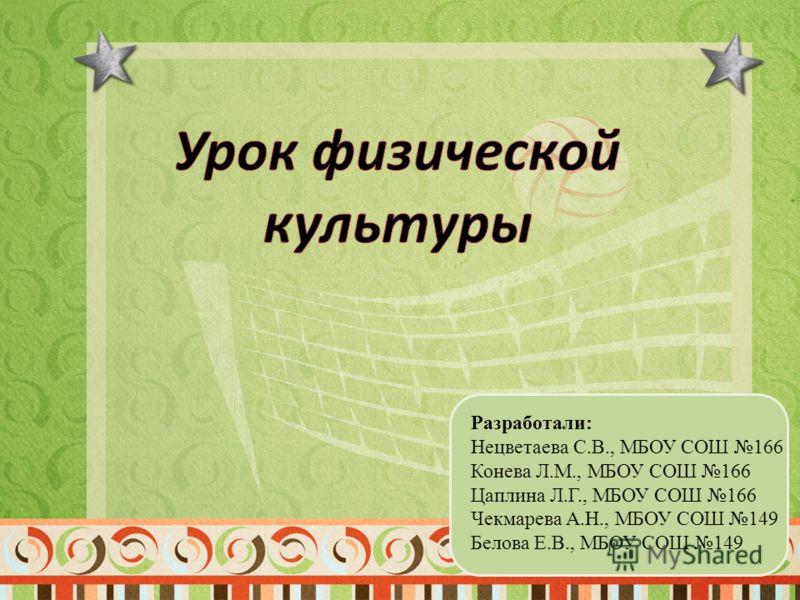 Разработали: Нецветаева С.В., МБОУ СОШ 166 Конева Л.М., МБОУ СОШ 166 Цаплина Л.Г., МБОУ СОШ 166 Чекмарева А.Н., МБОУ СОШ 149 Белова Е.В., МБОУ СОШ 149