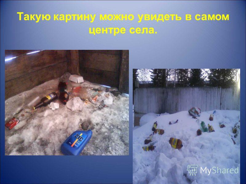 Такую картину можно увидеть в самом центре села.