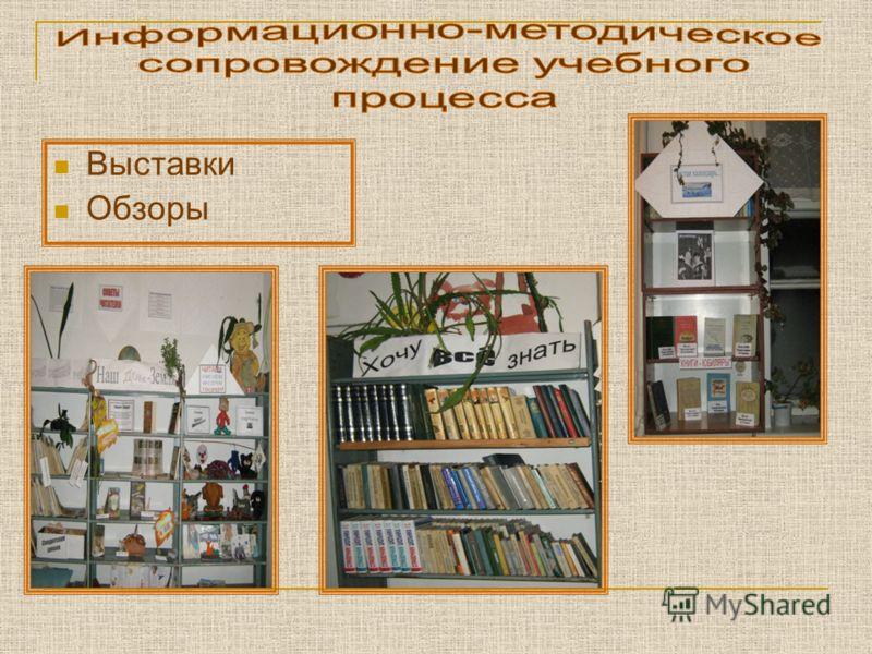 Выставки Обзоры