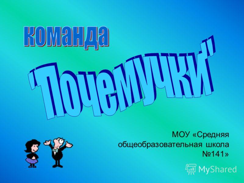 МОУ «Средняя общеобразовательная школа 141»