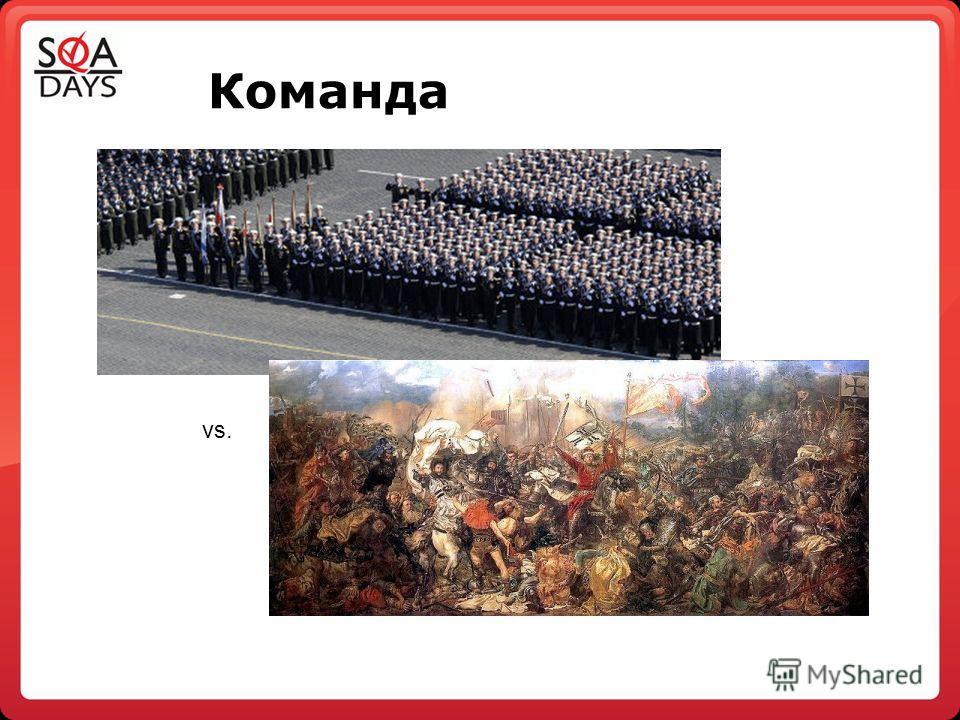 Команда vs.