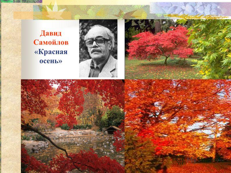 Давид Самойлов «Красная осень»