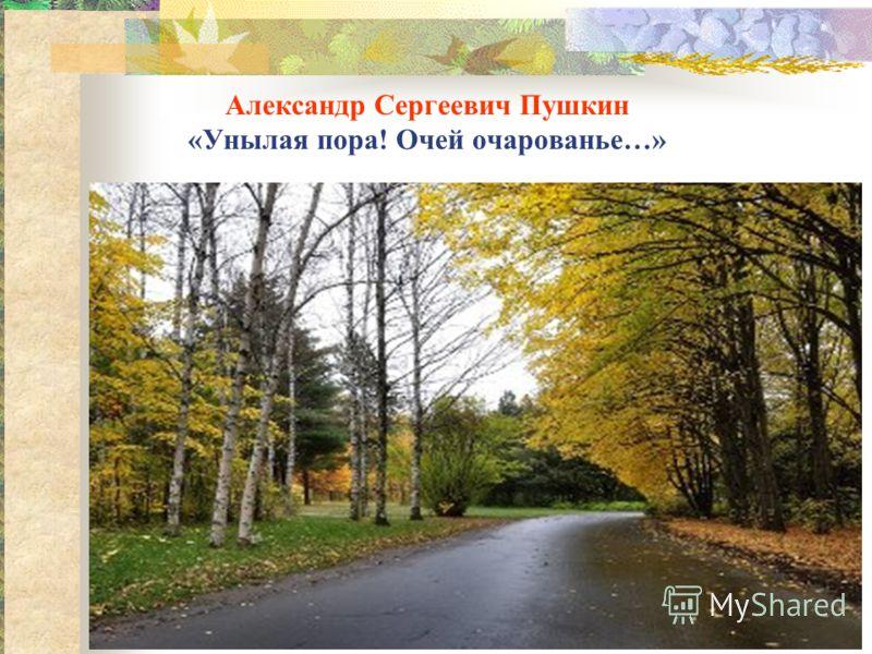 Александр Сергеевич Пушкин «Унылая пора! Очей очарованье…»