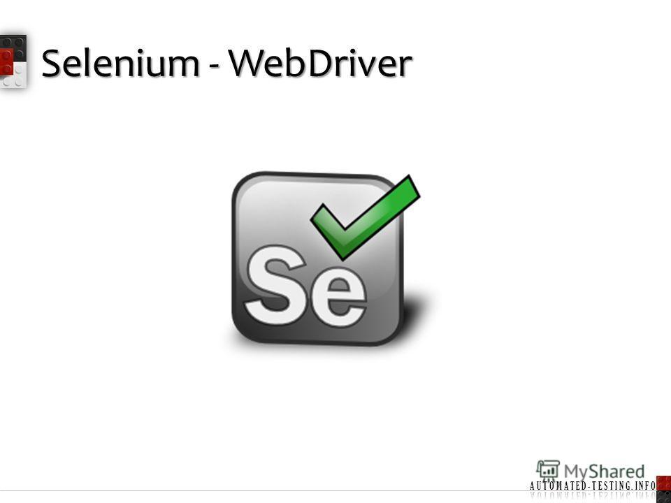 Selenium - WebDriver