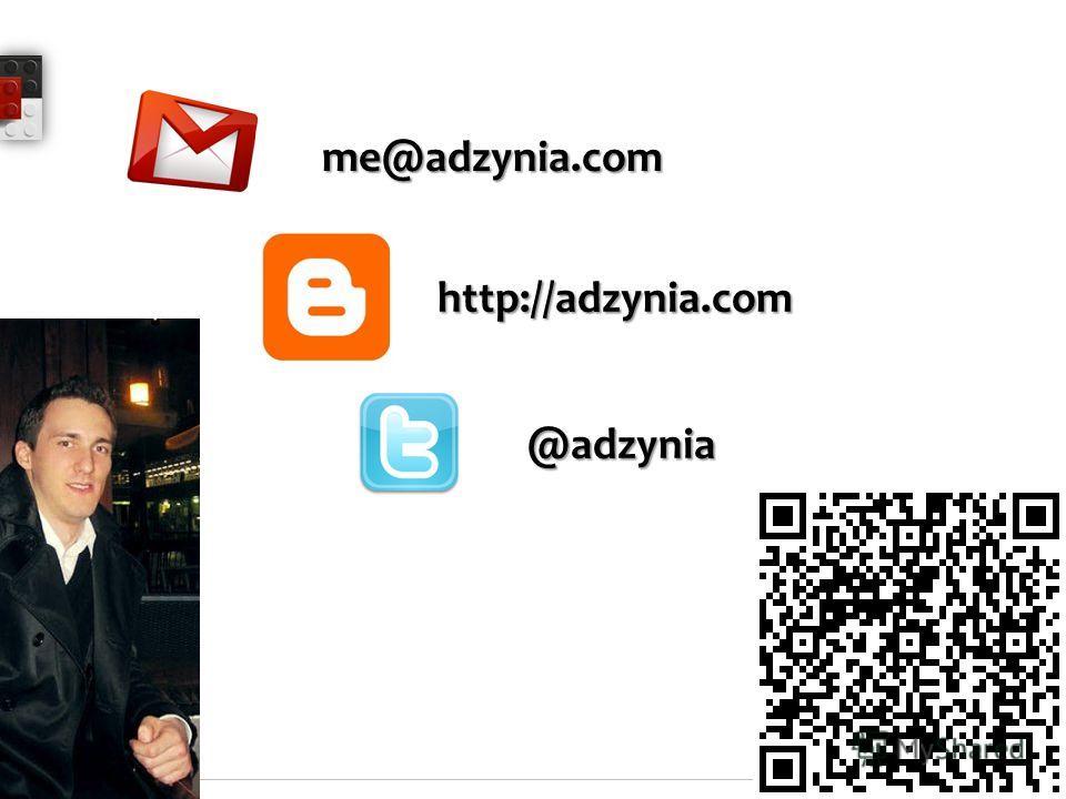 33 me@adzynia.com @adzynia http://adzynia.com