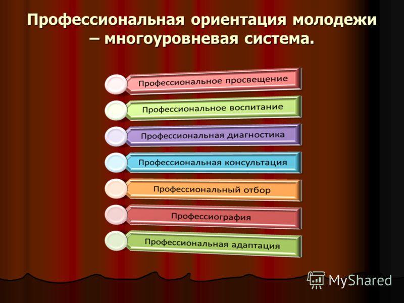 Профессиональная ориентация молодежи – многоуровневая система.