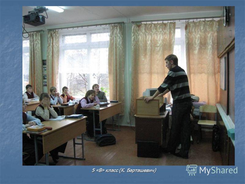5 «В» класс (К. Барташевич)