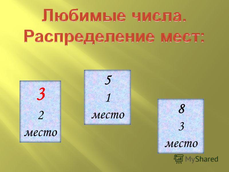 3 2 место 5 1 место 8 3 место