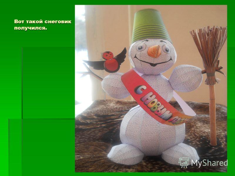 Вот такой снеговик получился.