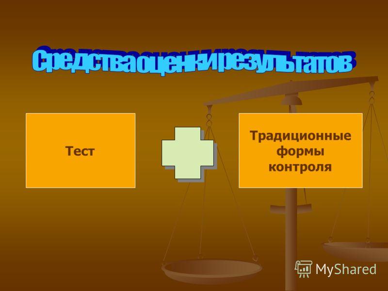 Тест Традиционные формы контроля