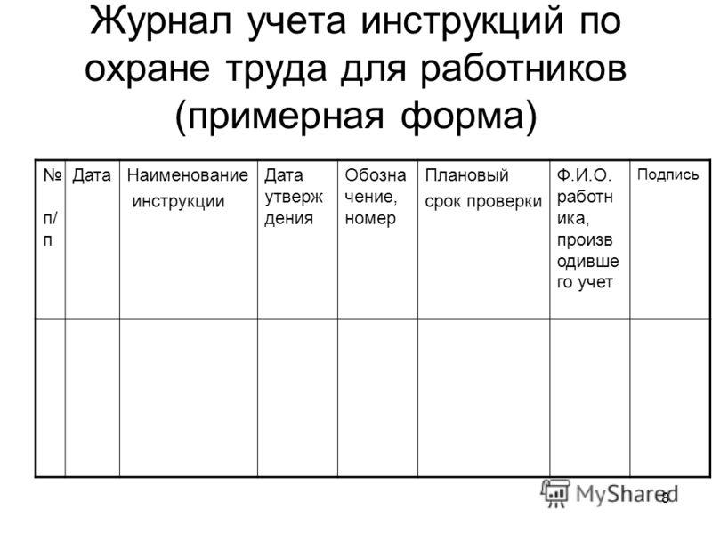 Инструкции по охране труда для работников школы