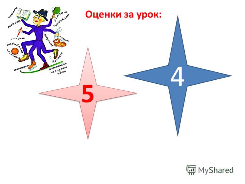 Оценки за урок: 5 5 4