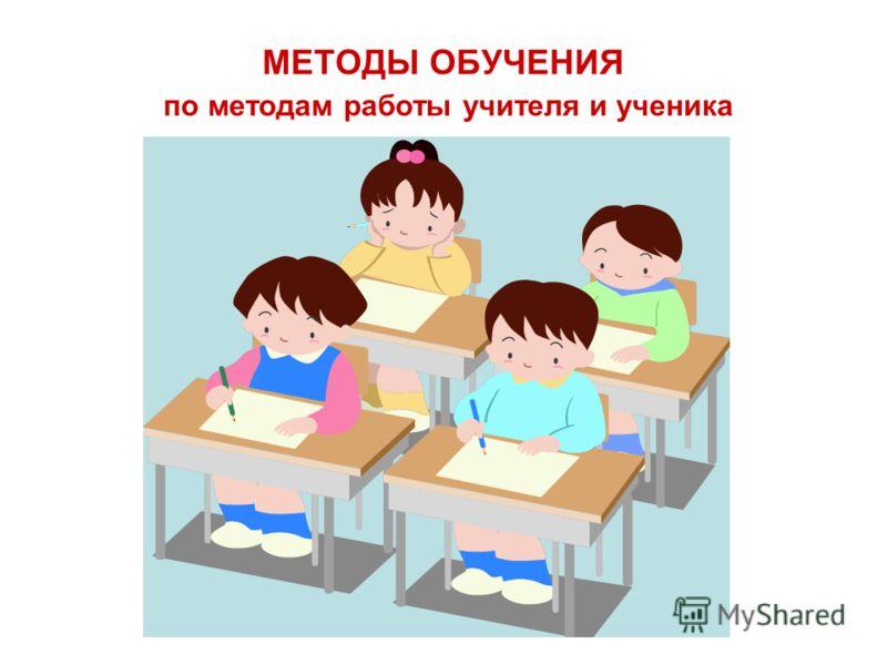 МЕТОДЫ ОБУЧЕНИЯ по методам работы учителя и ученика