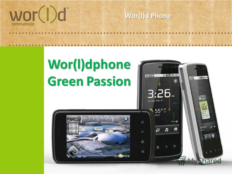 Wor(l)d Phone Wor(l)dphone Green Passion