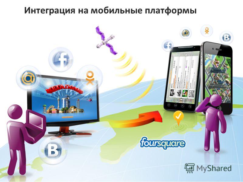 Интеграция на мобильные платформы