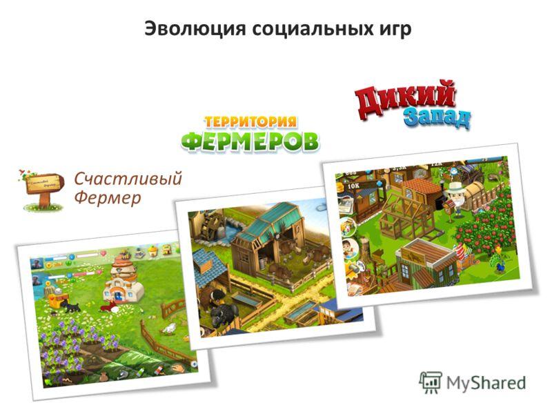 Эволюция социальных игр Счастливый Фермер