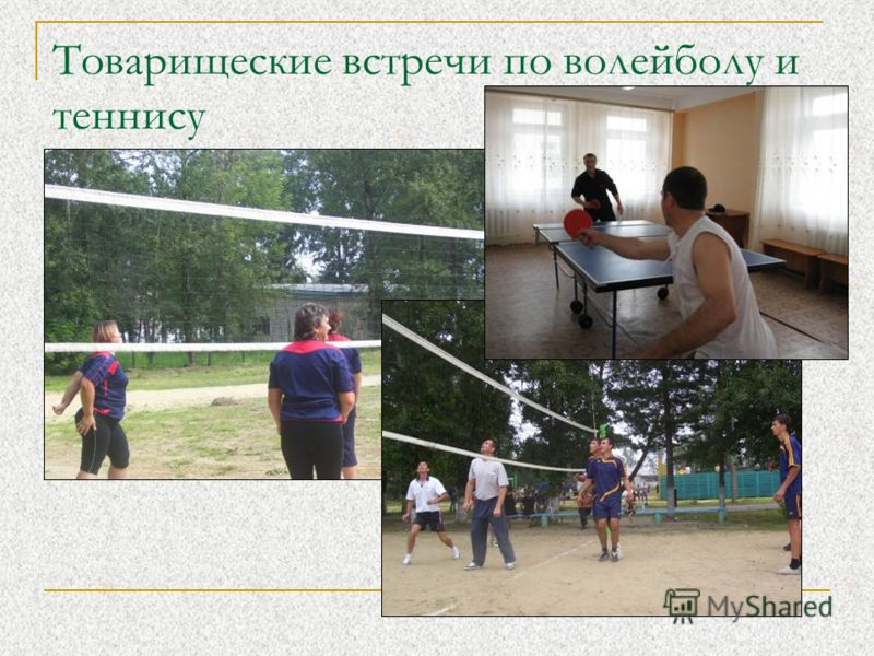 Товарищеские встречи по волейболу и теннису